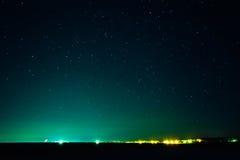 O céu noturno real natural Stars a textura do fundo Fotos de Stock Royalty Free