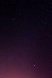 O céu noturno stars o fundo Imagens de Stock