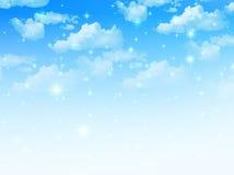 O céu nubla-se a paisagem Imagens de Stock Royalty Free