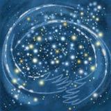 O céu que abraça as estrelas fotos de stock