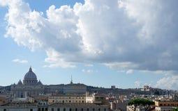 O céu sobre o Vaticano Foto de Stock Royalty Free