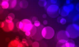 O círculo abstrato do fundo ilumina o estilo do Web do bokeh Foto de Stock