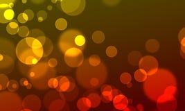 O círculo abstrato do fundo ilumina o estilo do Web do bokeh Fotografia de Stock Royalty Free