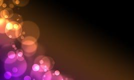 O círculo abstrato do fundo ilumina o estilo do Web do bokeh Fotos de Stock