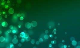 O círculo abstrato do fundo ilumina o estilo do Web do bokeh Imagem de Stock Royalty Free