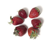 O círculo das morangos no fundo branco Foto de Stock Royalty Free