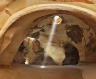 O círculo do brilho em um assoalho áspero Fotografia de Stock Royalty Free