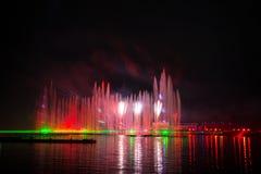 O círculo do festival da luz O canal do enfileiramento Imagens de Stock Royalty Free