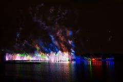 O círculo do festival da luz O canal do enfileiramento Fotos de Stock Royalty Free