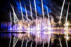 O círculo do festival da luz O canal do enfileiramento Fotografia de Stock