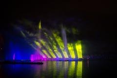 O círculo do festival da luz O canal do enfileiramento Imagens de Stock