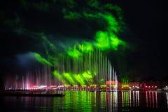 O círculo do festival da luz O canal do enfileiramento Foto de Stock Royalty Free
