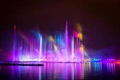 O círculo do festival da luz O canal do enfileiramento Imagem de Stock