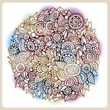 O círculo do vetor floresce a composição Ilustração Royalty Free