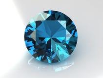 O círculo maciço torce o Gemstone do Topaz Fotos de Stock Royalty Free