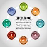 O círculo soa Infographic Foto de Stock