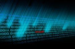 O código binário incandesce Imagens de Stock