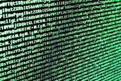 O código do programa é os caráteres, os números e as letras Imagens de Stock
