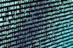 O código do programa no tela de computador Macro Imagem de Stock