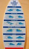 O código dos surfistas Imagens de Stock Royalty Free