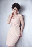O cabelo bonito 'sexy' da composição da mulher veste o estilo da forma Fotografia de Stock Royalty Free