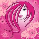 O cabelo da beleza representa bonito e atrativo ilustração royalty free
