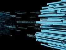 O cabo da rede no centro de dados 3d rende Foto de Stock Royalty Free