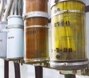 O cabo de cobre cancelado da energia elétrica Fotografia de Stock