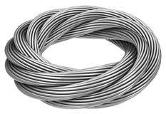 O cabo entrançado de aço infinito ilustração do vetor