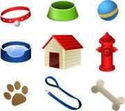 O cachorrinho do cão pets ícones Fotografia de Stock Royalty Free