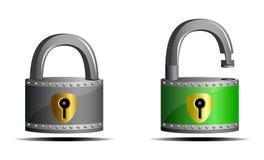 O cadeado (ícones) Imagem de Stock
