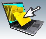 O caderno arquiva (o ponteiro) Imagens de Stock