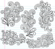 O caderno de Swirly Doodles a ilustração do vetor Foto de Stock Royalty Free