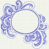 O caderno esboçado abstrato Doodles o frame Imagem de Stock