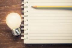O caderno para inspira o texto Fotografia de Stock