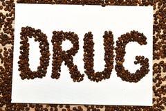 O café é droga Foto de Stock