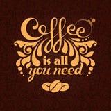 O café é tudo que você precisa Imagens de Stock Royalty Free