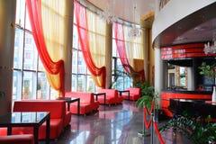 O café, barra um interior, sem povos fotografia de stock royalty free