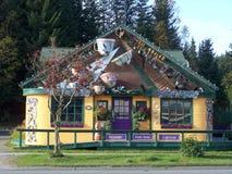 O café coloca o restaurante em Homer Alaska foto de stock royalty free