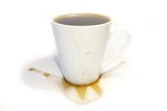 O café derramado Imagem de Stock