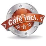 O café do botão incluiu ilustração stock