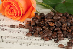 O café e aumentou Imagem de Stock