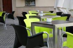 O café interior da rua Imagens de Stock Royalty Free