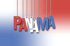 O cair de Panamá da palavra nas cordas Imagem de Stock