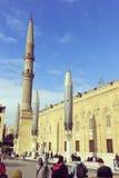 O Cairo, Egito - 13 de dezembro de 2014: Al-Hussein Mosque, ibn Ali de Husayn, vintage Foto de Stock