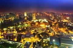 O Cairo em a noite Imagem de Stock