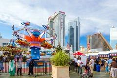 O cais de aço famoso em Atlantic City Foto de Stock Royalty Free