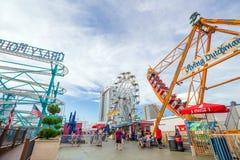O cais de aço famoso em Atlantic City imagem de stock royalty free