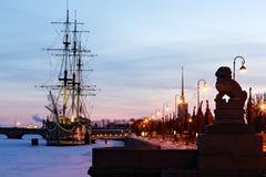 O cais de Peter. St Petersburg fotografia de stock