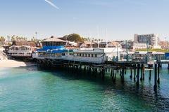 O cais do pescador em Redondo Beach Fotos de Stock Royalty Free